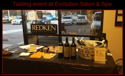 Tasting event at Evolution Salon & Spa.